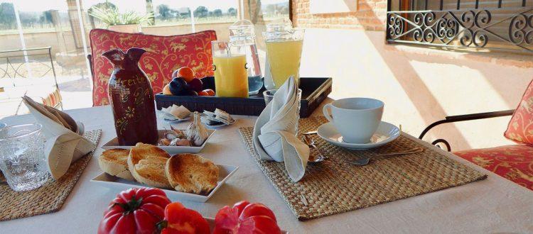 Desayuno en el Complejo Rural Valdepusa